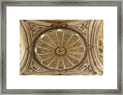 Great Mosque Ceiling - Cordoba Spain Framed Print by Jon Berghoff