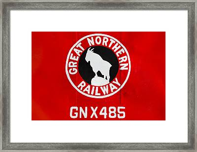 Great Northern Caboose Framed Print
