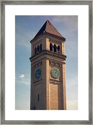 Great Northern Railway Clock Tower - Spokane Framed Print