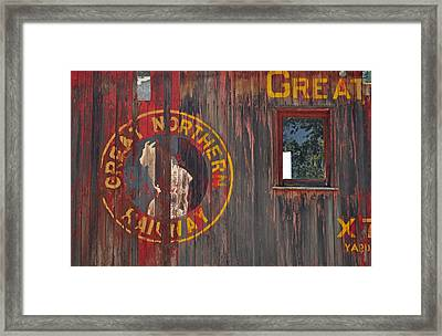 Great Northern Railway Old Boxcar Framed Print