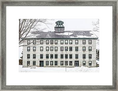 Great Old Stone Building Historic Shaker Dwelling Framed Print by Edward Fielding