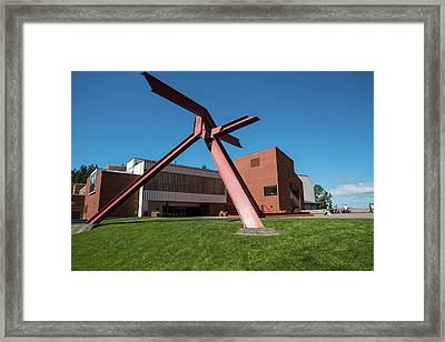 Great Orange Tripod Framed Print