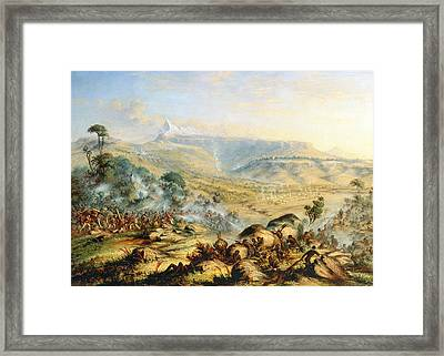 Great Peak Of The Amatola-british-kaffraria  Framed Print by Thomas Baines