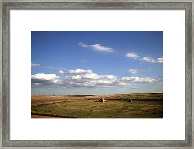 Great Plains Farming 12 Framed Print by Thomas Woolworth