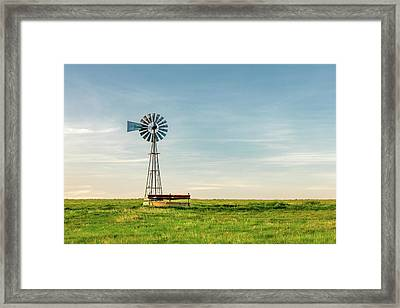 Great Plains Windmill Framed Print by Todd Klassy
