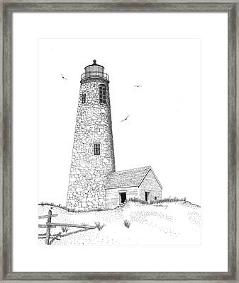 Great Point Lighthouse Framed Print by Tim Murray