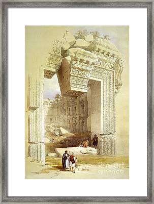 Great Portal, Temple Of Bacchus Framed Print by Science Source