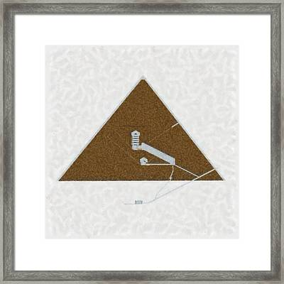 Great Pyramid By Pierre Blanchard Framed Print by Pierre Blanchard