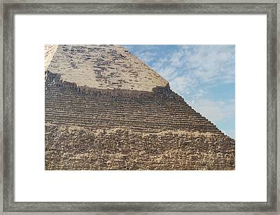 Framed Print featuring the photograph Great Pyramid Of Giza by Silvia Bruno