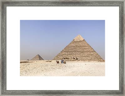 Great Pyramids Of Giza - Egypt Framed Print