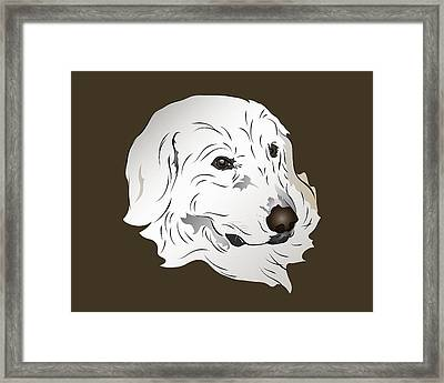 Great Pyrenees Dog Framed Print