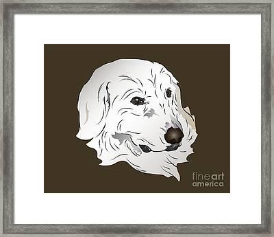 Great Pyrenees Dog Framed Print