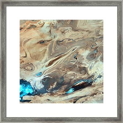 Great Salt Desert Framed Print by NASA / Science Source
