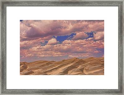 Great Sand Dunes And Great Clouds Framed Print by James BO  Insogna