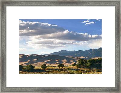 Great Sand Dunes At Dusk Framed Print