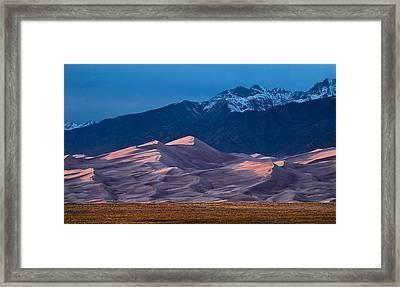Great Sand Dunes  Colorado Framed Print by Steve Gadomski
