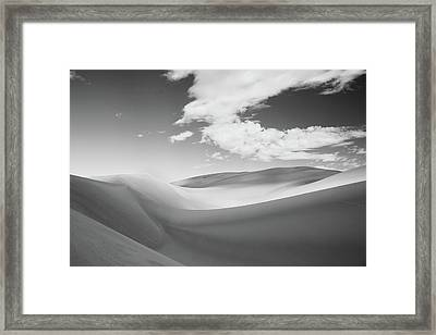 Great Sand Dunes National Park In Black And White Framed Print