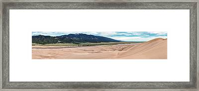 Great Sand Dunes National Park Panorama Framed Print