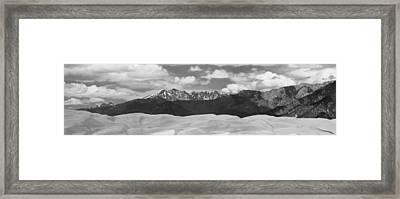 Great Sand Dunes Panorama 1 Bw Framed Print by James BO  Insogna