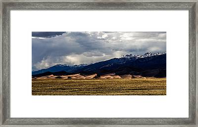 Great Sand Dunes Panorama Framed Print