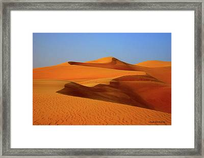 Great Sand Sea Framed Print by Chaza Abou El Khair