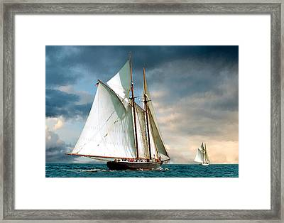 Great Schooner Race Framed Print