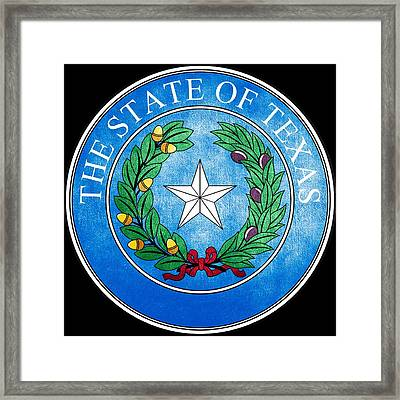 Great Seal Of The State Of Texas Framed Print by Fry1989