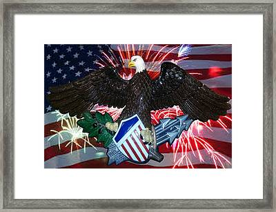 Great Seal Of The United States-fireworks Framed Print