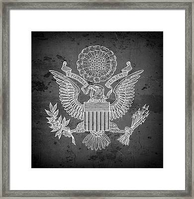 Great Seal Of The United States Of America Framed Print