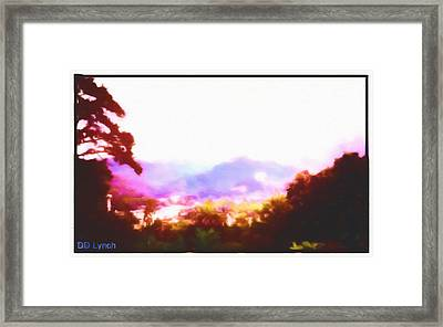 Great Smokey Mountain Painting Framed Print