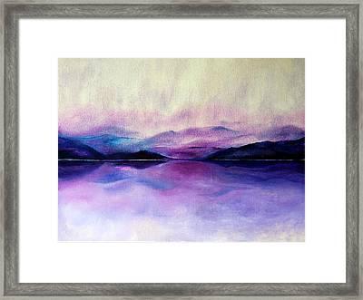 Great Smoky Lakeside Framed Print