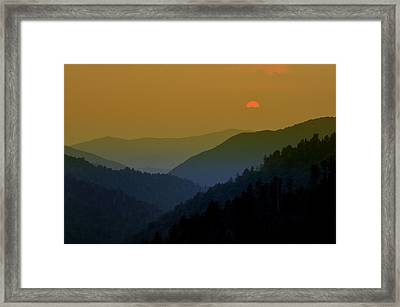 Great Smoky Mountain Sunset Framed Print by Thomas Schoeller