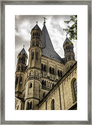 Great St. Martin Church In Cologne Framed Print by Pablo Lopez