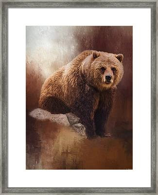 Great Strength - Grizzly Bear Art Framed Print