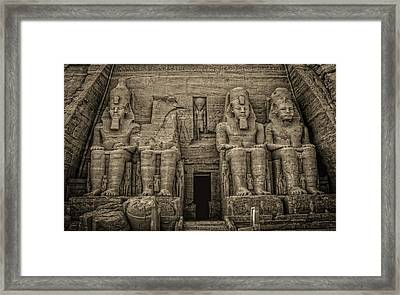Great Temple Abu Simbel  Framed Print