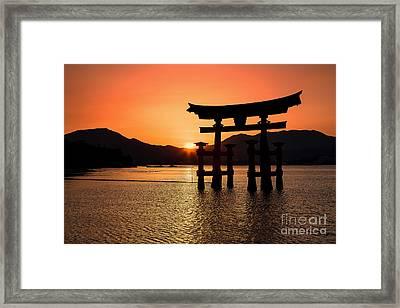 Great Torii Sunset- Miyajima  Framed Print