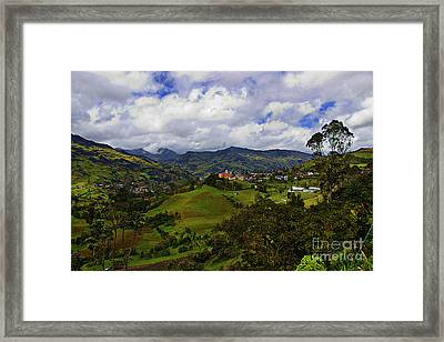 Great View North Of Paute IIi Framed Print
