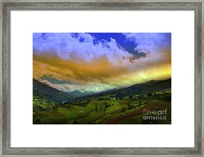 Great View North Of Paute Iv Framed Print