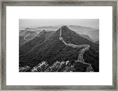 Great Wall 2, Jinshanling, 2016 Framed Print by Hitendra SINKAR
