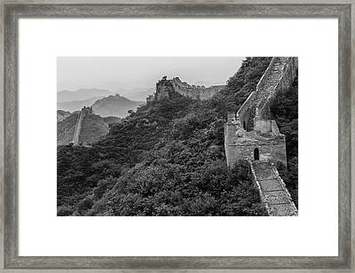 Great Wall 3, Jinshanling, 2016 Framed Print by Hitendra SINKAR