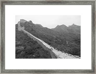 Framed Print featuring the photograph Great Wall 4, Jinshanling, 2016 by Hitendra SINKAR