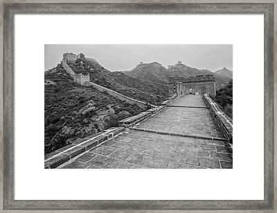Great Wall 5, Jinshanling, 2016 Framed Print by Hitendra SINKAR