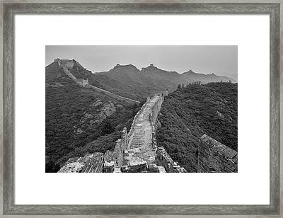 Framed Print featuring the photograph Great Wall 6, Jinshanling, 2016 by Hitendra SINKAR