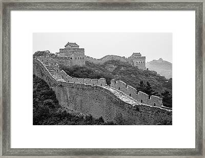 Framed Print featuring the photograph Great Wall 8, Jinshanling, 2016 by Hitendra SINKAR