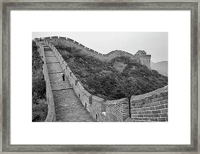 Great Wall 9, Jinshanling, 2016 Framed Print by Hitendra SINKAR