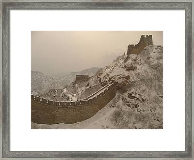 Great Wall Framed Print by James Lukashenko