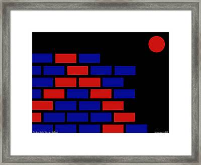 Great Wall Of China Framed Print by Asbjorn Lonvig