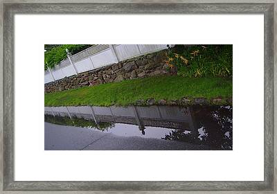Great Wall Of Puddle Framed Print by Ron Sylvia