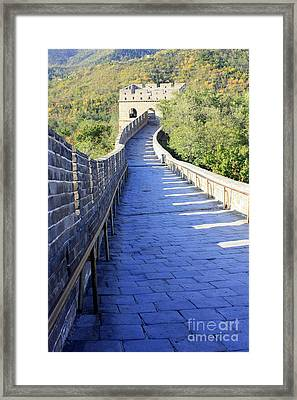 Great Wall Pathway Framed Print