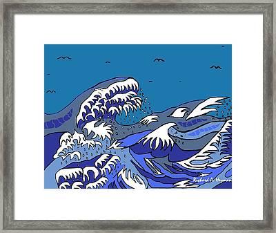 Great Wave 2011 Framed Print by Richard Heyman